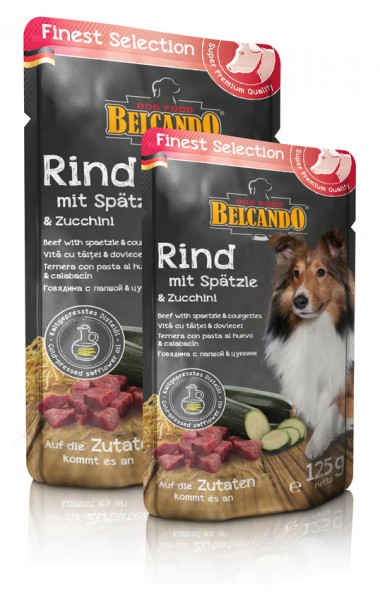 Belcando Rind und Spätzle mit Zucchini 125 g