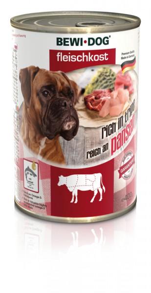 BEWI DOG Fleischkost Reich an Rinderpansen, 400g
