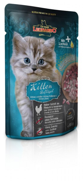 Leonardo Kitten, Geflügel Frischebeutel 85g