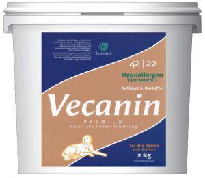 Vecanin Premium Hypoallergen (getreidefrei) 42/22, Geflügel & Kartoffel, 2 kg