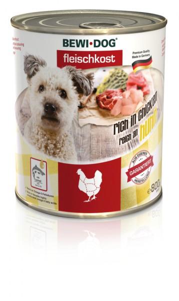 BEWI DOG Fleischkost Reich an Huhn, 800g
