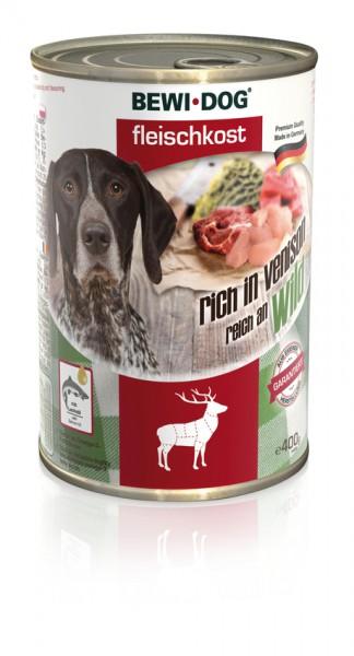 BEWI DOG Fleischkost Reich an Wild, 400g