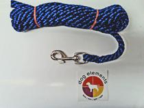 """dogelements® Schleppleine 5 m """"rund"""" blau/schwarz 12mm"""