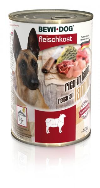 BEWI DOG Fleischkost Reich an Lamm, 400g