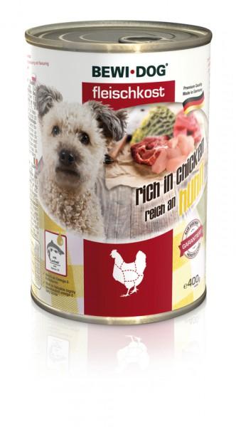 BEWI DOG Fleischkost Reich an Huhn, 400g