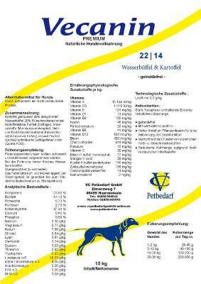 Vecanin Wasserbüffel & Kartoffel -getreidefrei- 22/14 15 kg
