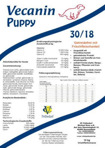 Vecanin Puppy getreidefrei 30/18
