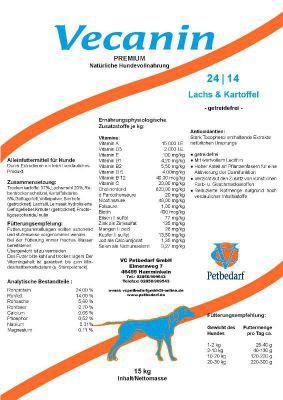 Vecanin Lachs & Kartoffel -getreidefrei- 24/14 15 kg