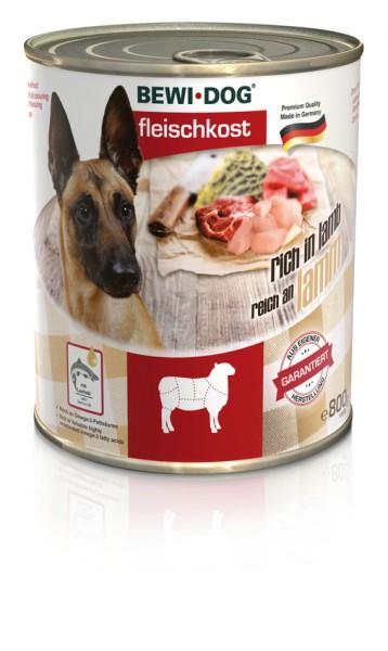 BEWI DOG Fleischkost Reich an Lamm, 800g