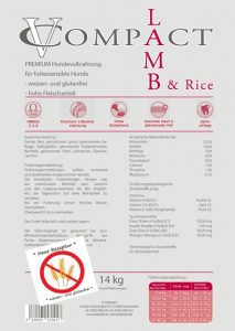 VC Compact Premium Lamm und Reis 22/10 14 kg