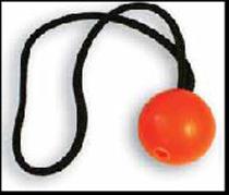 SW Ball mit Schlaufe, orange, 35 cm
